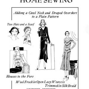 1930s Art Deco Easy Winter Sewing a..