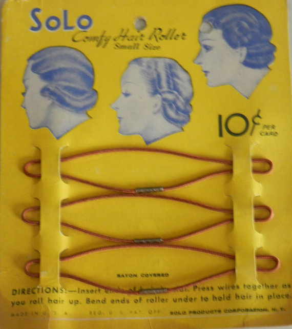Very Rare 20s Early 30s Flapper Hair Rollers Original Store Card