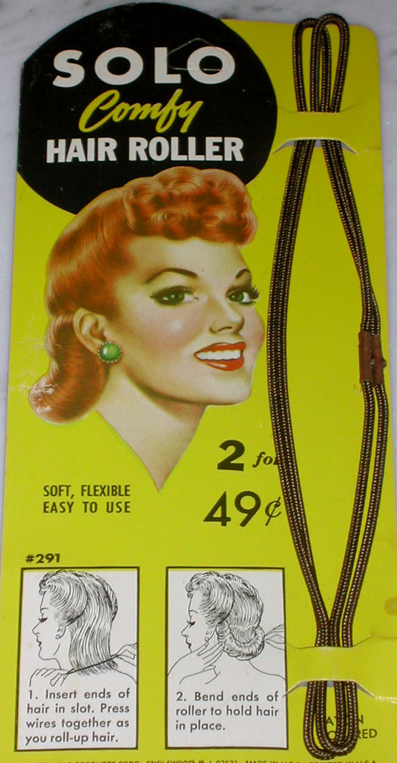 1940s Vintage Hair Rollers 40s Pin-up Hairstyles Victory Rolls Bomb Girls WWII Wartime Homefront