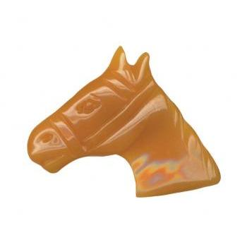 Carved Plastic Butterscottch Horse Pin Brooch Bakelite 30s Art Deco Look